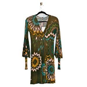 MISSONI Art Floral V-Neck Bell-Sleeve Dana Dress